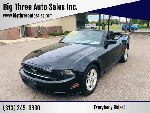 2014 Ford Mustang for sale at Big Three Auto Sales Inc. in Detroit MI