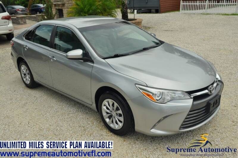 2016 Toyota Camry for sale at Supreme Automotive in Land O Lakes FL