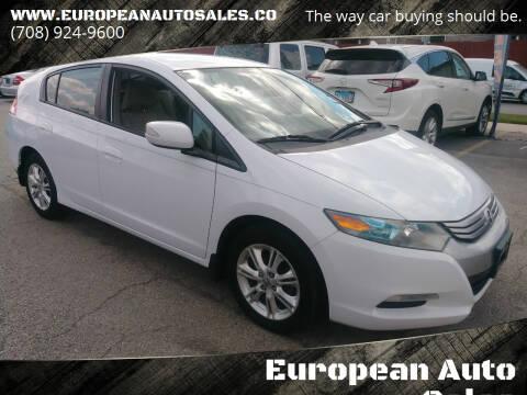 2010 Honda Insight for sale at European Auto Sales in Bridgeview IL