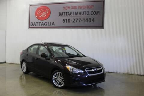 2012 Subaru Impreza for sale at Battaglia Auto Sales in Plymouth Meeting PA