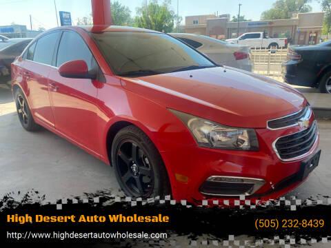 2015 Chevrolet Cruze for sale at High Desert Auto Wholesale in Albuquerque NM