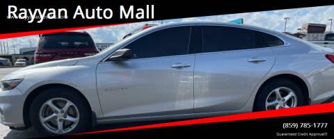 2017 Chevrolet Malibu for sale at Rayyan Auto Mall in Lexington KY
