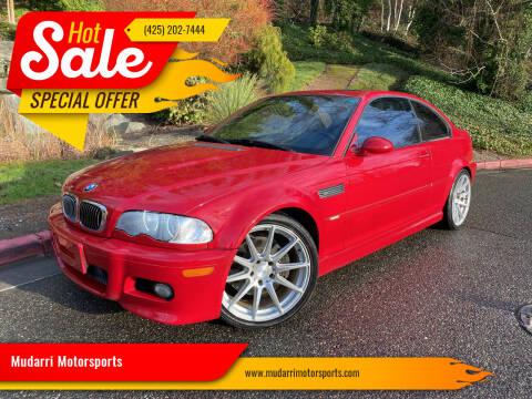 2001 BMW M3 for sale at Mudarri Motorsports in Kirkland WA