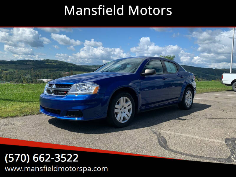 2013 Dodge Avenger for sale at Mansfield Motors in Mansfield PA
