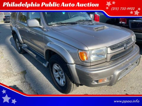 2002 Toyota 4Runner for sale at Philadelphia Public Auto Auction in Philadelphia PA
