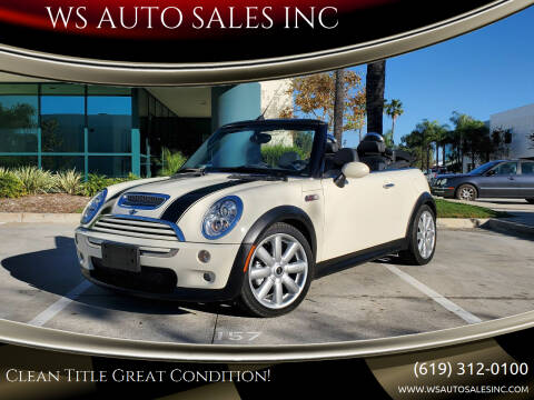 2008 MINI Cooper for sale at WS AUTO SALES INC in El Cajon CA