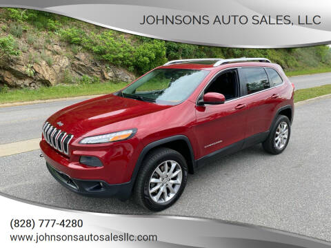 2014 Jeep Cherokee for sale at Johnsons Auto Sales, LLC in Marshall NC
