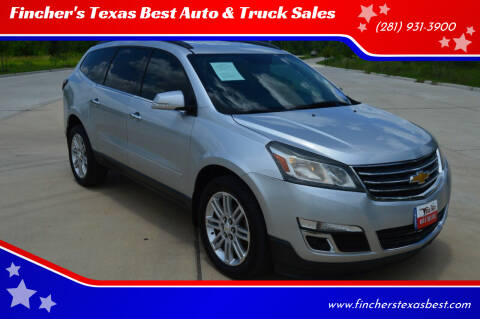 2014 Chevrolet Traverse for sale at Fincher's Texas Best Auto & Truck Sales in Tomball TX