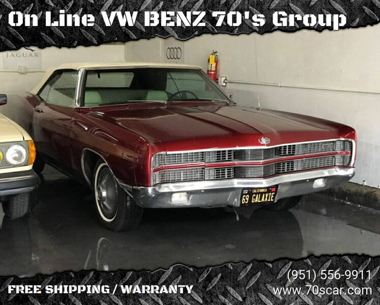 1969 Ford Galaxie XL 390 for sale at On Line VW BENZ 70's Group in Warehouse CA