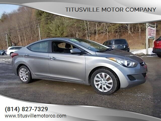 2012 Hyundai Elantra for sale at Titusville Motor Company in Titusville PA