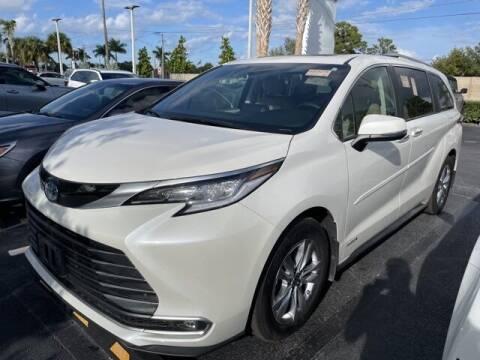 2021 Toyota Sienna for sale at PHIL SMITH AUTOMOTIVE GROUP - Toyota Kia of Vero Beach in Vero Beach FL