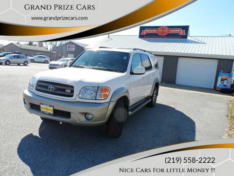 2004 Toyota Sequoia for sale at Grand Prize Cars in Cedar Lake IN