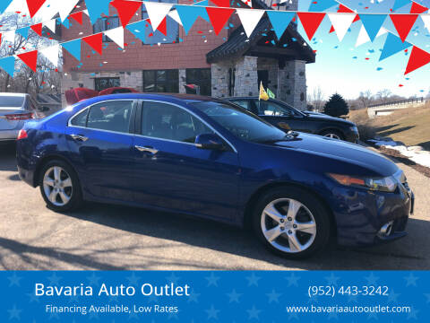 2012 Acura TSX for sale at Bavaria Auto Outlet in Victoria MN