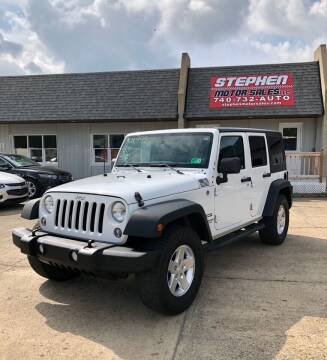 2014 Jeep Wrangler Unlimited for sale at Stephen Motor Sales LLC in Caldwell OH