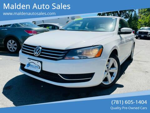 2013 Volkswagen Passat for sale at Malden Auto Sales in Malden MA
