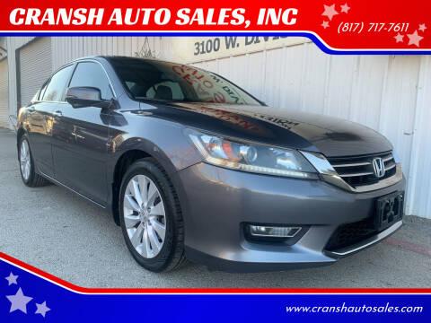 2013 Honda Accord for sale at CRANSH AUTO SALES, INC in Arlington TX