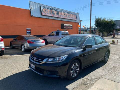 2013 Honda Accord for sale at City Motors in Hayward CA
