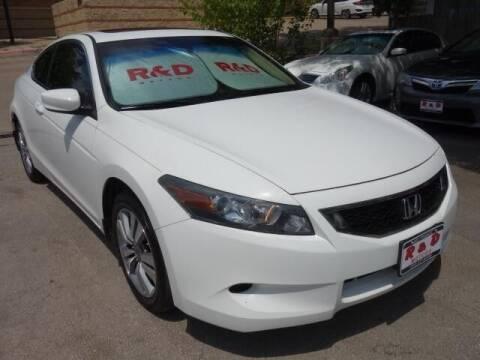 2010 Honda Accord for sale at R & D Motors in Austin TX