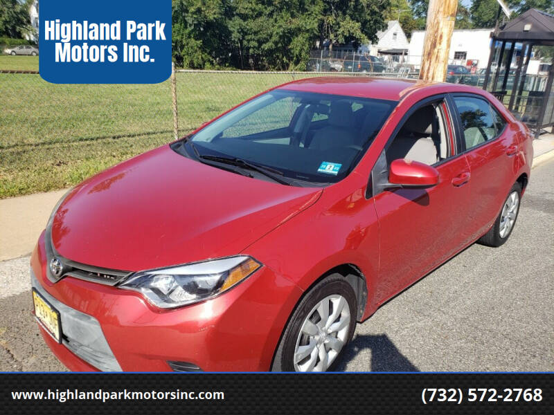 2015 Toyota Corolla for sale at Highland Park Motors Inc. in Highland Park NJ