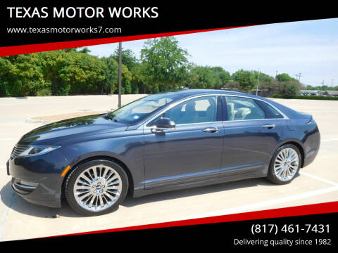2014 Lincoln MKZ for sale at TEXAS MOTOR WORKS in Arlington TX