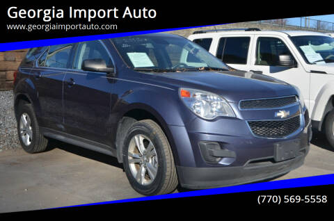 2013 Chevrolet Equinox for sale at Georgia Import Auto in Alpharetta GA