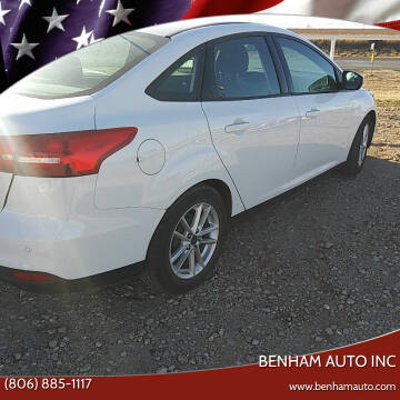 2016 Ford Focus for sale at BENHAM AUTO INC in Lubbock TX