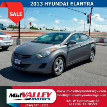 2013 Hyundai Elantra for sale at Mid Valley Motors in La Feria TX
