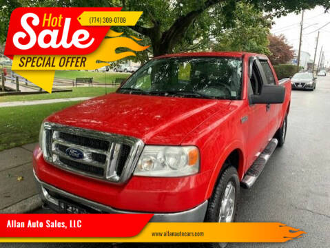 2008 Ford F-150 for sale at Allan Auto Sales, LLC in Fall River MA