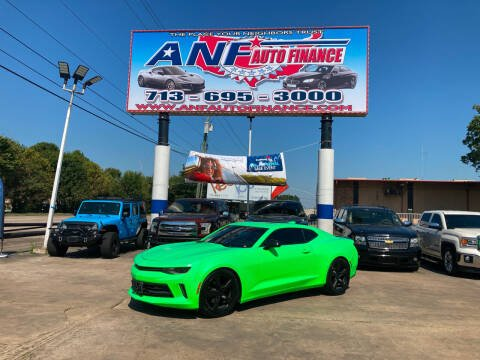 2018 Chevrolet Camaro for sale at ANF AUTO FINANCE in Houston TX