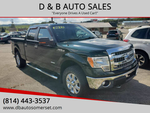 2013 Ford F-150 for sale at D & B AUTO SALES in Somerset PA