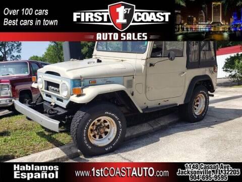 1973 Toyota Land Cruiser for sale at 1st Coast Auto -Cassat Avenue in Jacksonville FL
