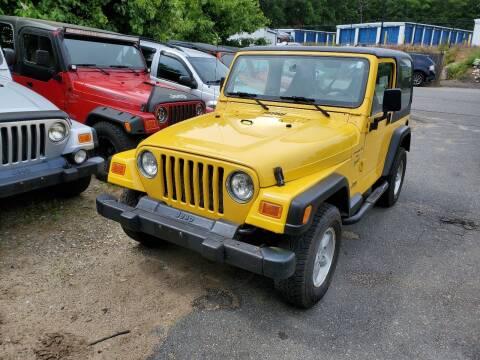2001 Jeep Wrangler for sale at MX Motors LLC in Ashland MA