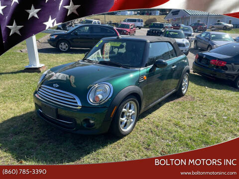 2012 MINI Cooper Convertible for sale at BOLTON MOTORS INC in Bolton CT