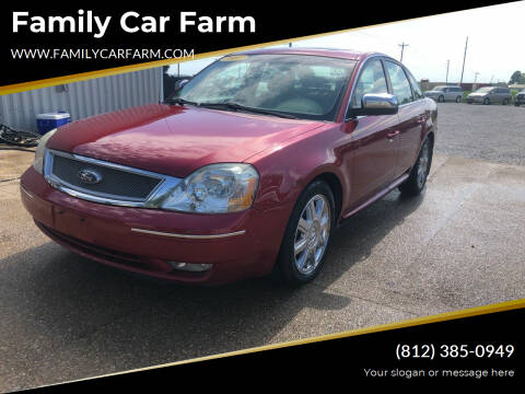 2007 Ford Five Hundred for sale at Family Car Farm in Princeton IN