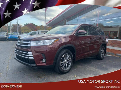 2017 Toyota Highlander for sale at USA Motor Sport inc in Marlborough MA