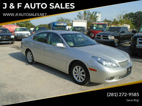 2003 Lexus ES 300 for sale at J & F AUTO SALES in Houston TX