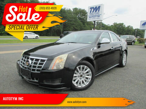 2013 Cadillac CTS for sale at AUTOTYM INC in Fredericksburg VA