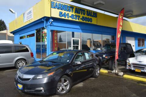 2012 Acura TL for sale at Earnest Auto Sales in Roseburg OR