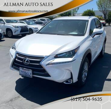 2017 Lexus NX 200t for sale at ALLMAN AUTO SALES in San Diego CA