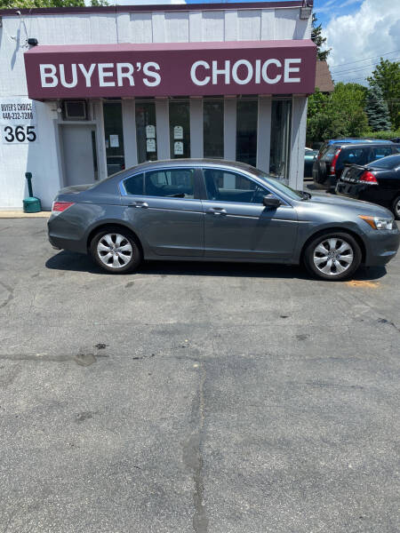 2009 Honda Accord for sale at Buyers Choice Auto Sales in Bedford OH