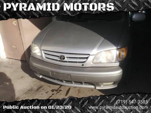2001 Toyota Sienna for sale at PYRAMID MOTORS - Pueblo Lot in Pueblo CO