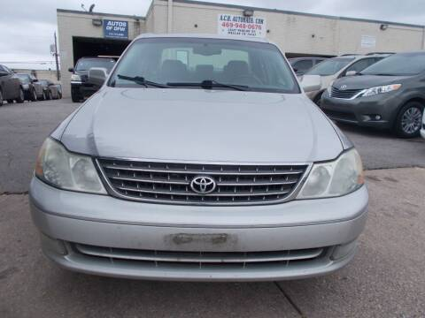 2004 Toyota Avalon for sale at ACH AutoHaus in Dallas TX