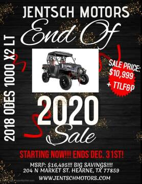 2018 Odes DOMINATOR  X 2 1000 LT ZEUS for sale at JENTSCH MOTORS in Hearne TX