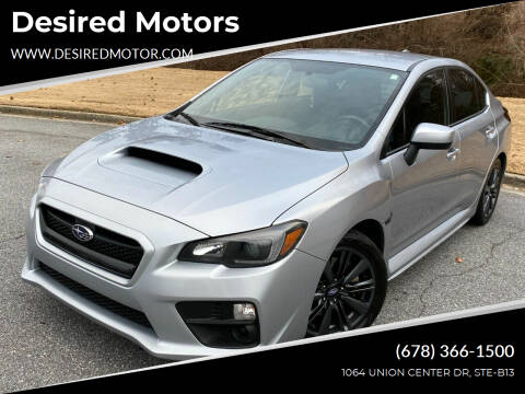 2017 Subaru WRX for sale at Desired Motors in Alpharetta GA