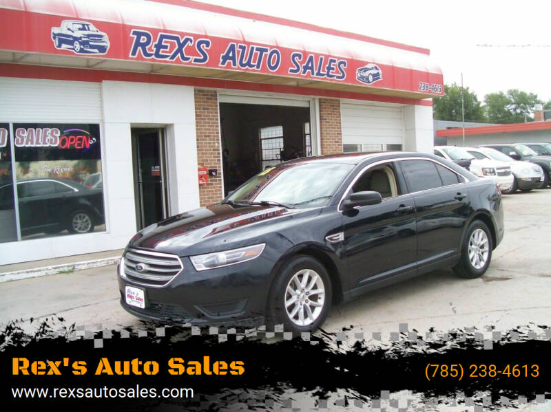 2015 Ford Taurus for sale at Rex's Auto Sales in Junction City KS