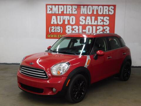 2013 MINI Countryman for sale at EMPIRE MOTORS AUTO SALES in Philadelphia PA