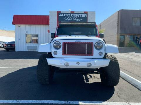 2016 Jeep Wrangler Unlimited for sale at Auto Center Of Las Vegas in Las Vegas NV