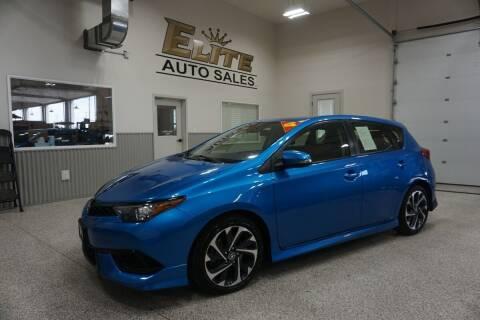 2017 Toyota Corolla iM for sale at Elite Auto Sales in Ammon ID