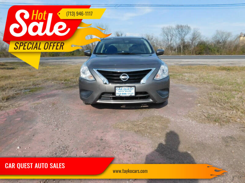 2016 Nissan Versa for sale at CAR QUEST AUTO SALES in Houston TX