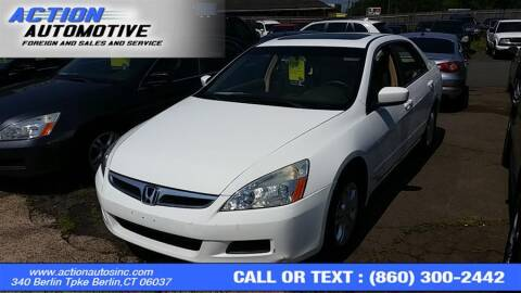 2007 Honda Accord for sale at Action Automotive Inc in Berlin CT